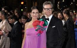Milano, Green Carpet Fashion Awards arrivals as Teatro alla Scala pictured : Colin Firth, Livia Giuggioli Firth