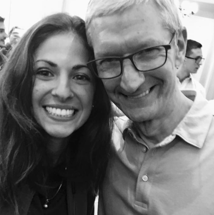 Tim Cook at the Apple Store Florence. Courtesy by Athyna Dorotea
