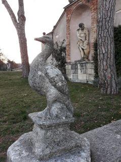 Alcune sculture del parco della Villa..